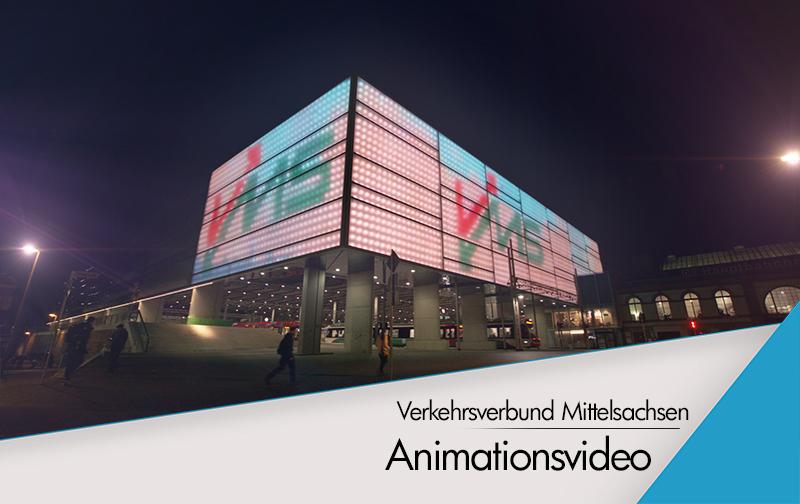 Animation für die Leinwand des HBF Chemnitz